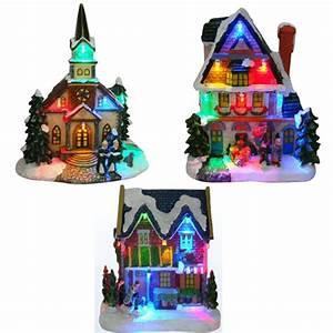 Maison De Noel Miniature : maisons lumineuses pour village miniature de no l ref min113 sur grossiste chinois import ~ Nature-et-papiers.com Idées de Décoration