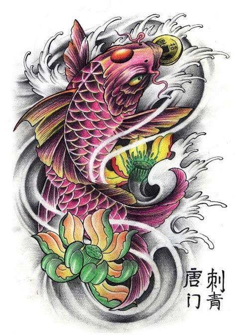 koi fish lotus flower tattoos buscar  google