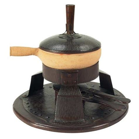 gustav stickley chafing dish stand