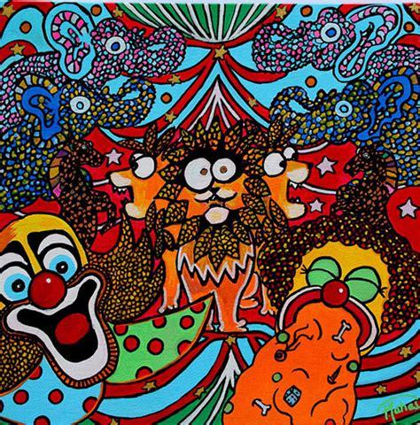 peinture le cirque bouge la lionne