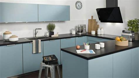 cuisine r駭ovation cuisine noir mur bleu cuisine nous a fait à l 39 aise dans le processus de nourriture