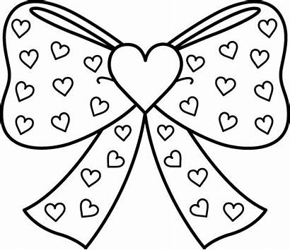 Coloring Pages Printable Heart Bow Hearts