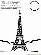 Eiffel Tower Coloring Pages Printable France Paris Colouring Around Countries Towers Coloringpages101 Themed Adult Christmas Moon Drawings sketch template