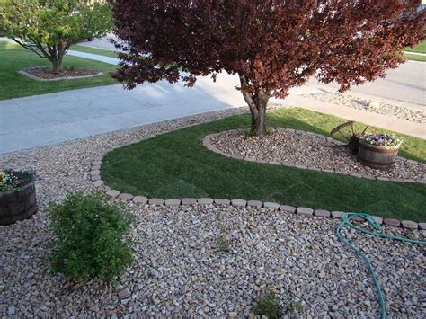 Easy Front Yard Rock Landscaping