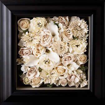 preserved framed wedding bouquet sashas  dayton