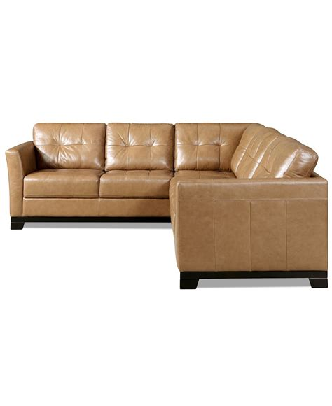 Apartment Sofa Leather by Martino Leather Sectional Sofa 2 Sofa And
