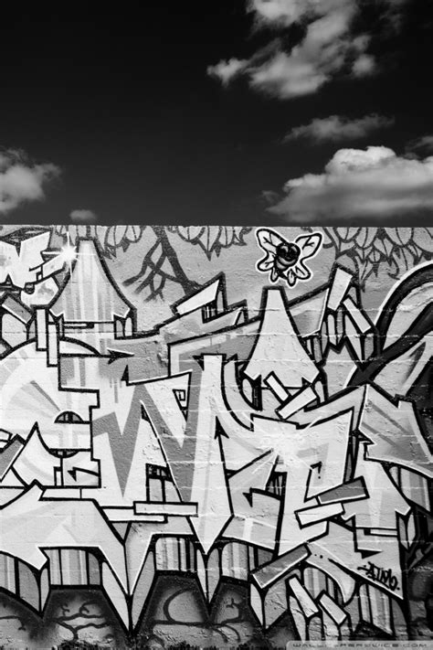 graffiti black  white  hd desktop wallpaper