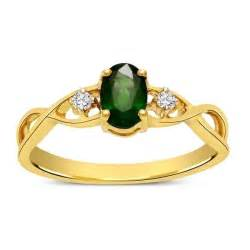 emerald gold engagement rings emerald and infinity engagement ring in yellow gold jewelocean