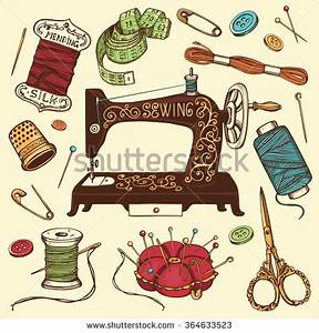 Sewing Tools And Equipment Clipart (81+)