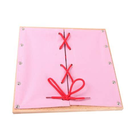 montessori premium cadre d habillage avec lacet