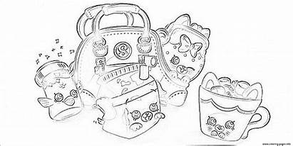 Coloring Shopkins Pages Bags Printable Colouring Info