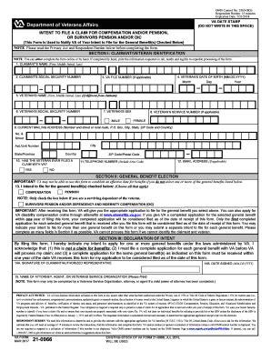 va form 526 va forms 21 526ez templates fillable printable sles