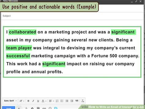 ways  write  email  interest   job wikihow