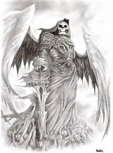 Angel Of Death Tattoo Sketches Pictures to Pin on