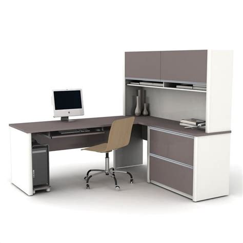 Bestar Connexion L Shaped Desk by Bestar Connexion L Shaped Office Set In Sandstone Amp Slate