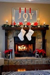Christmas Fireplace Decorations on Pinterest