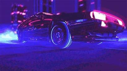 Delorean Vaporwave Retro Neon Drive Gifs Specialists