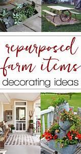 Repurposed, Farm, Equipment, Ideas, For, Home, Decorating
