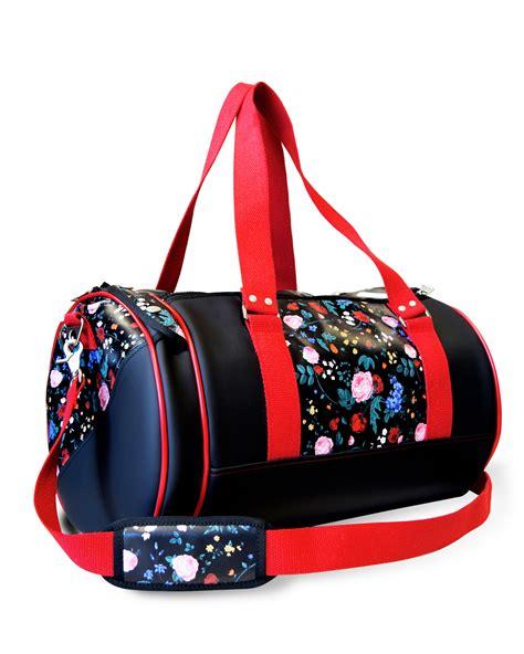 sport duffle bag floral print fitness bag  floral pattern