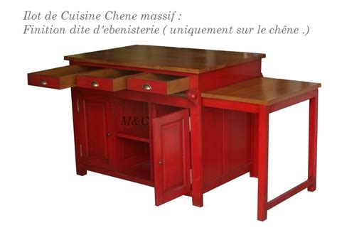 table coulissante cuisine ilot en chne table coulissante