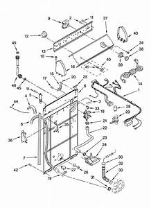 Crosley Residential Washers Controls And Rear Panel Parts