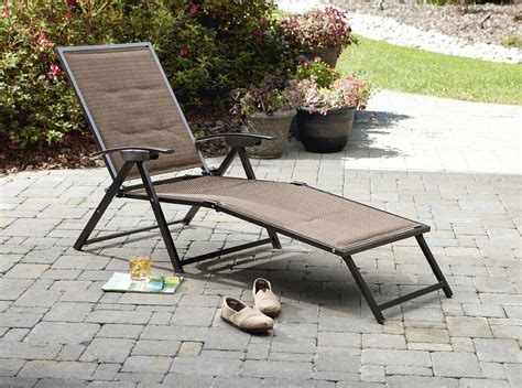 folding outdoor chaise lounge garden oasis harrison matching folding padded sling chaise