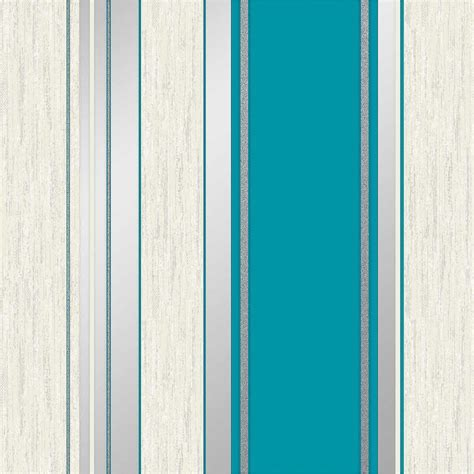 Vymura Synergy Stripe Wallpaper   Teal   Decorating, DIY