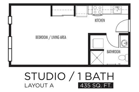 One Bedroom Apartment Layout Ideas by Interesting Studio Apartment Layout Including One Bedroom