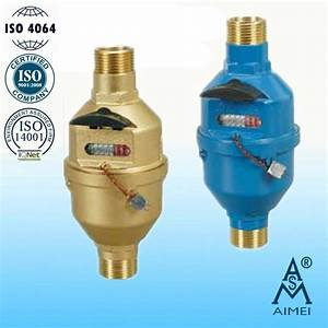 China Volumetric Rotary Piston Wet Type Brass Water Meter