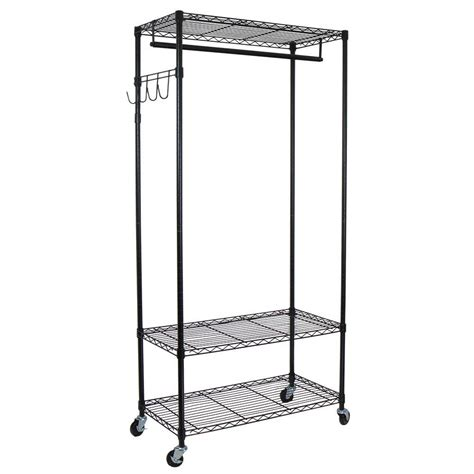 heavy duty clothes rack oceanstar heavy duty 3 shelf steel adjustable 4 wheeled