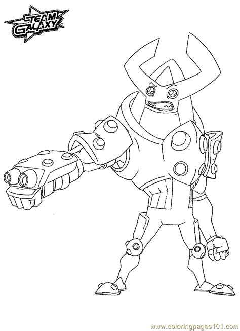 coloring pages team galaxy coloring page  cartoons