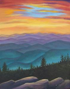 Mountain Sunset by Audrie Sumner