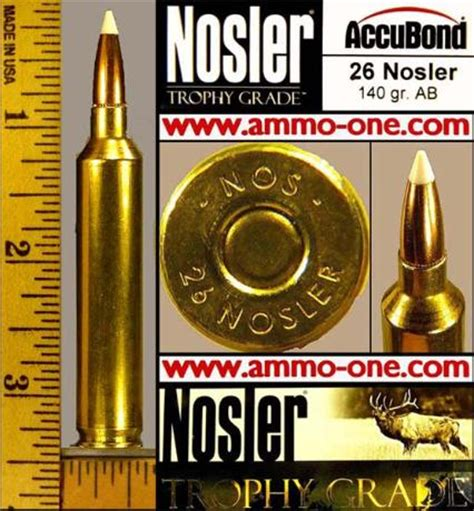nosler ammo ammunition  sale  single cartridge