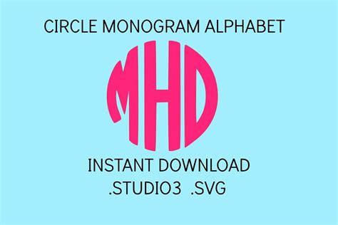 circle monogram font svg svg files svg fonts