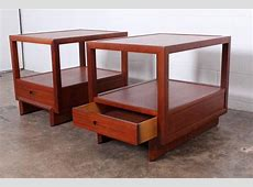 Pair of Nightstands by Frank Lloyd Wright for Henredon at