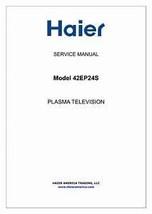 Haier 42ep24s  Service Manual  Repair Schematics