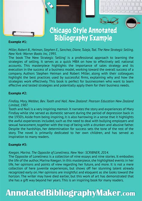 chicago style annotated bibliography