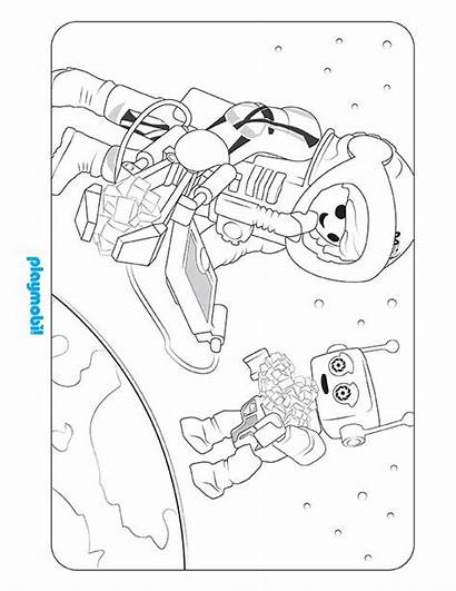 Playmobil Coloring Mars Space Mission Sheet