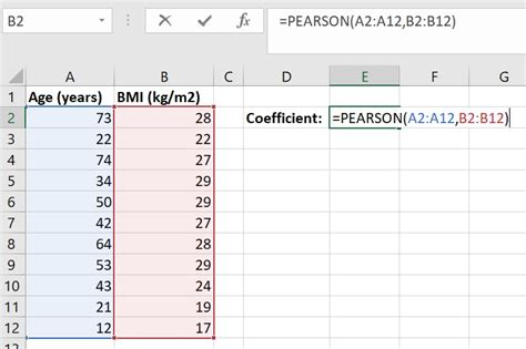 perform  pearson correlation test  excel top