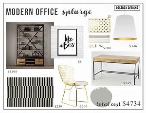 Modern, Glam, Office, Copycat, Two, Offices, 1, High, U0026, 1, Low