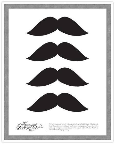 mustache template printable the polka dot mustache free printables up