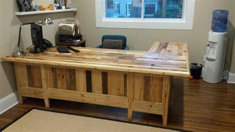 pallets wood  big office table pallet ideas