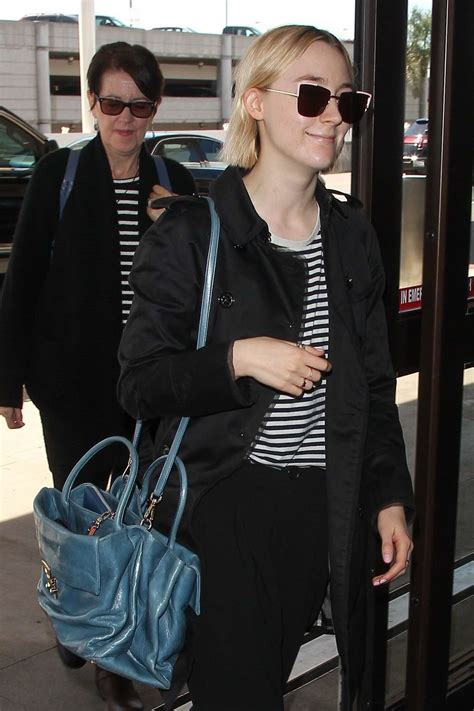 Saoirse Ronan At Lax Airport With Her Mother In Los
