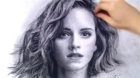 Emma Watson Portrait  This Why You Should Use Charcoal