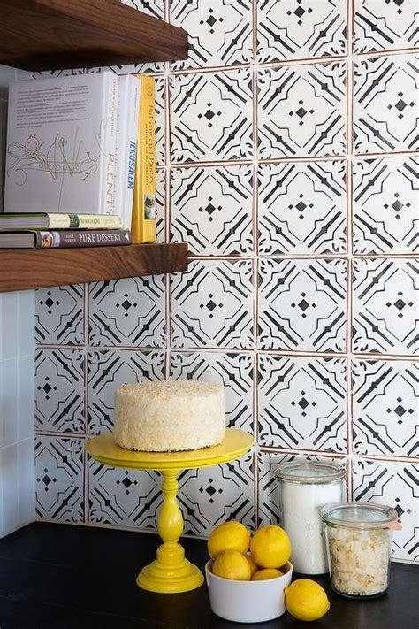black and white tile backsplash black and white kitchen design ideas