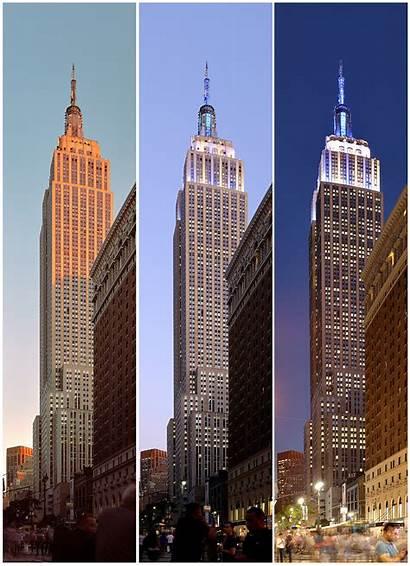 Empire State Building York Night Wikipedia Into