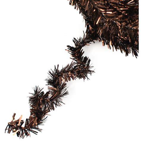 metallic tinsel roping chocolate brown 25 feet