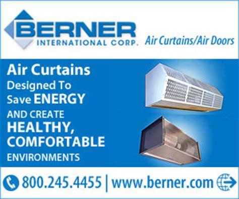 berner air curtain distributors berner international corp air curtains air doors new