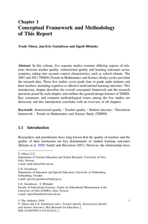 conceptual framework  methodology   report