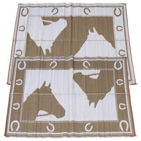 fireside patio mats chocolate horseshoe 6 ft x 9 ft